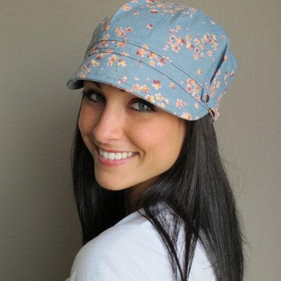Blue Engineer Pageboy Hat- womens size MEDIUM