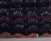 Original designed and hand knitted midnight blue shawl apx 30 x 60