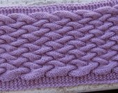 Pattern for braided cable long neck scarf