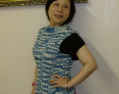 Knitting pattern for a cotton vest - tank - shell beginners level