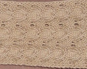 hand knitted umbrella neck scarf in bone simply soft yarn