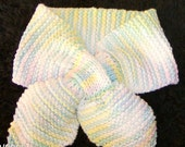HAND KNITTED COTTON PASTELS DICKIE NECK SCARF