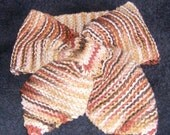 HAND KNITTED BROWNS COWL-DICKIE NECK SCARF IN COTTON