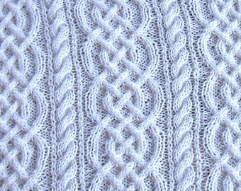 pattern for saxon braid and cable baby afghan