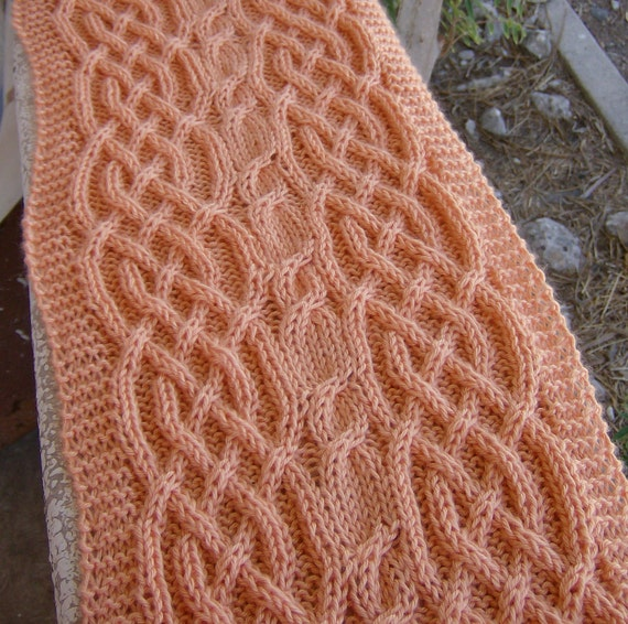 Celtic Knot Scarf Knitting Pattern : Pattern for a Saxon braid and lush cable long neck scarf