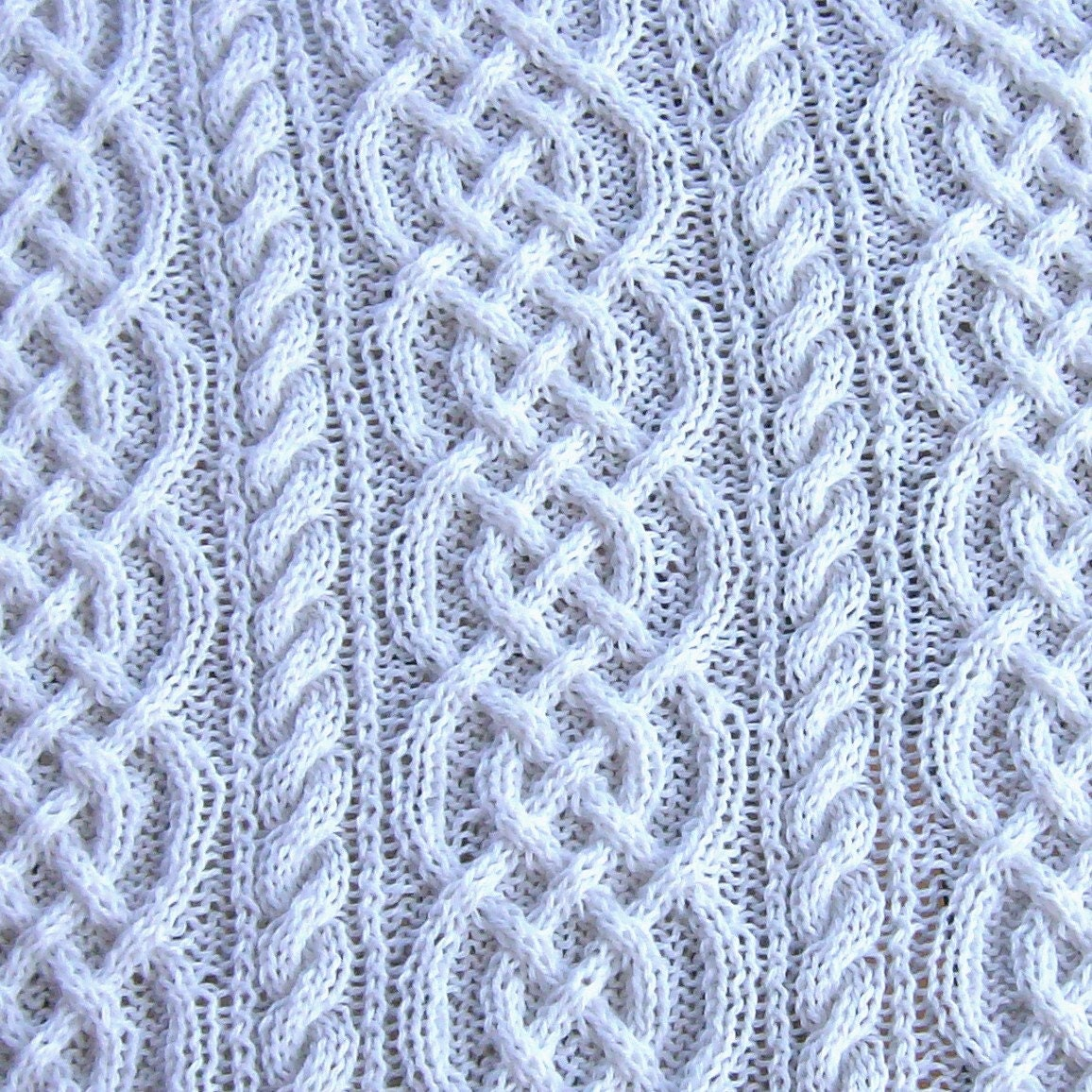 Crochet Cable Baby Blanket Pattern : pattern for saxon braid and cable baby afghan