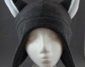 Grey Fox Animal Earflap Fleece Hat Skiing Snowboarding Cosplay Anime Winter Gothic Punk Rave