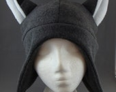 Grey Fox Animal Earflap Fleece Hat Skiing Snowboarding Cosplay Anime Winter Gothic Punk Rave