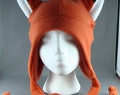 Fox Earflap Fleece Hat Skiing Snowboarding Gothic Rave Punk Winter Fun