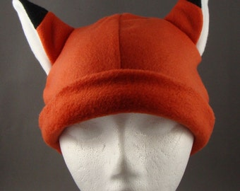 Fox Animal Fleece Hat Snowboarding Skiing Anime Cosplay Warm Fun