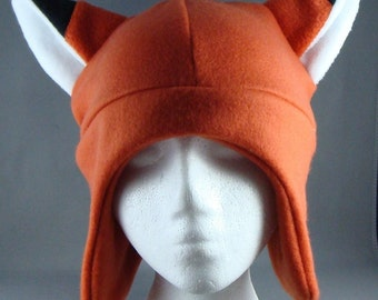 Fox HAT Animal Fleece Hat Skiing Snowboarding Gothic Rave Punk Earflap