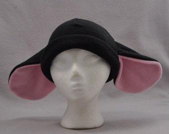 Black Sheep Ears Beanie  Animal Fleece Hat Anime Lolita Cosplay Skiing Snowboarding Gothic Punk AVIATOR