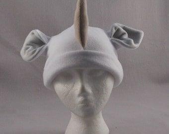 Rhino Ears horns Earflap Drawstring Ties Beanie  Animal Fleece Hat Anime Lolita Cosplay Skiing Snowboarding Gothic Punk AVIATOR