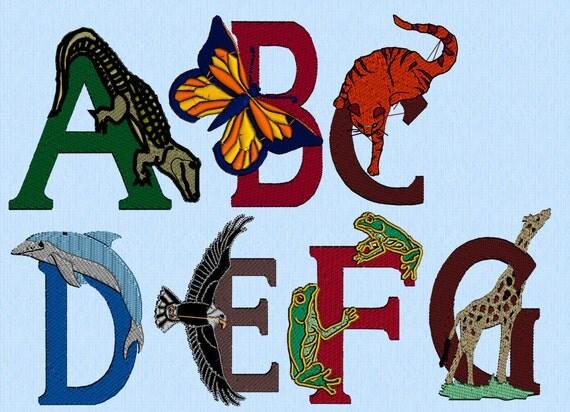 Items similar to animals alphabet set of machine