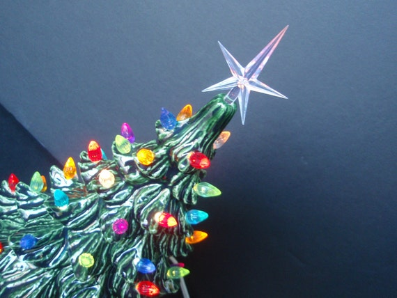 Vintage Style Lighted Christmas Tree - Medium size 11 inch size
