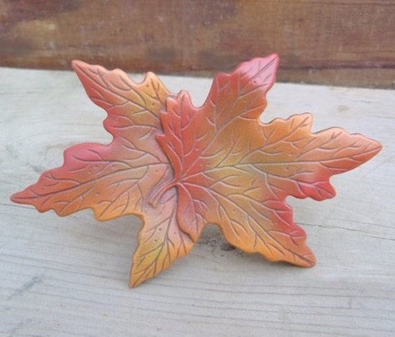 Maple leaf decoration ceramic leaves fall leaf decor for Autumn leaf decoration