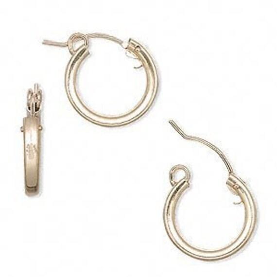 Gold Filled Snap Bar Hoops - Hoop Earrings