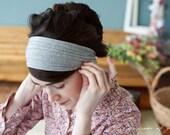 Soft heather gray Stretch headband- garlands of Grace Classic stretch hair accessory