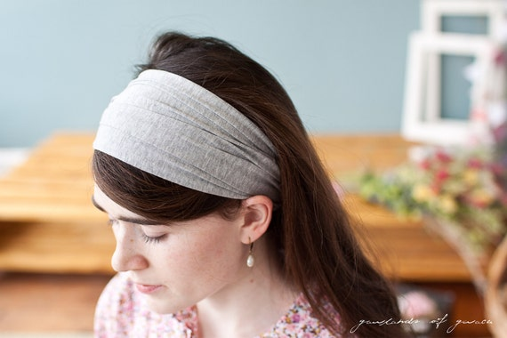 Stretch headband covering in any color- Classic Garlands of Grace hair accessory