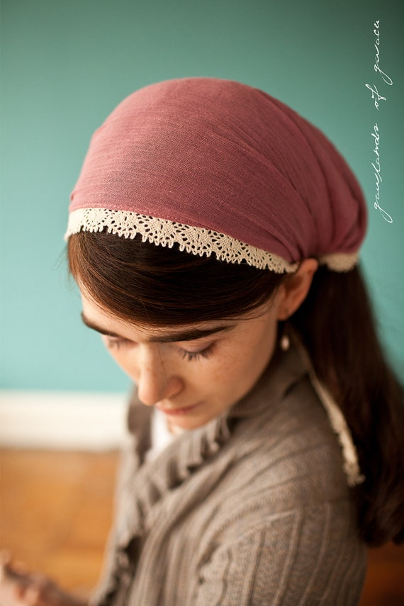 Cecilys Anywhere Scarf in Rose - Garlands of Grace Something special headband 2012