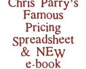 Chris Parrys Famous Pricing Spreadsheet. The most downloaded pricing spreadsheet  for Etsy users. Digital Download.