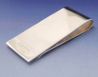 Sterling Silver Money Clip - Gents, mens perfect gift. Father's Day.