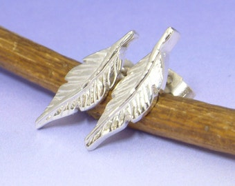 A little feather from an Angels wing. Stud earring.