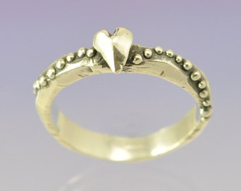 Stacking Silver Heart Ring.