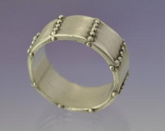 Rivet. Sterling Silver custom made ring.