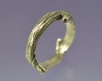 Twig Ring. Silver. Wedding or Dress Ring