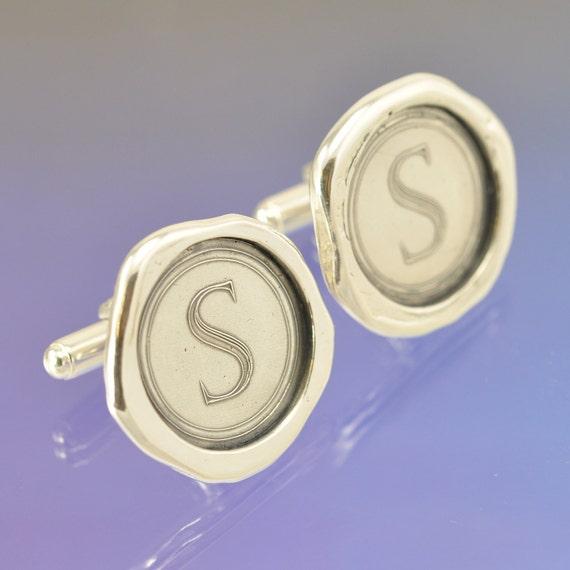 Wax Seal Cufflinks. Sterling Silver.