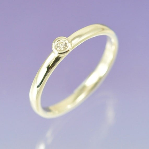 Diamond Engagement Stacking Ring.9k Gold (White or Yellow)
