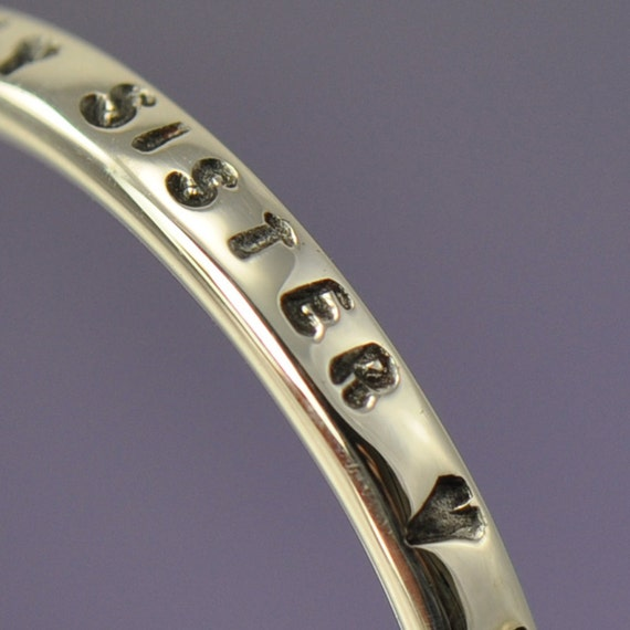 Stackable Sterling Silver Ring.  Personalised with your own message
