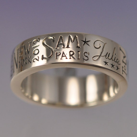 The Memory Ring. Custom words for you to treasure. Silver