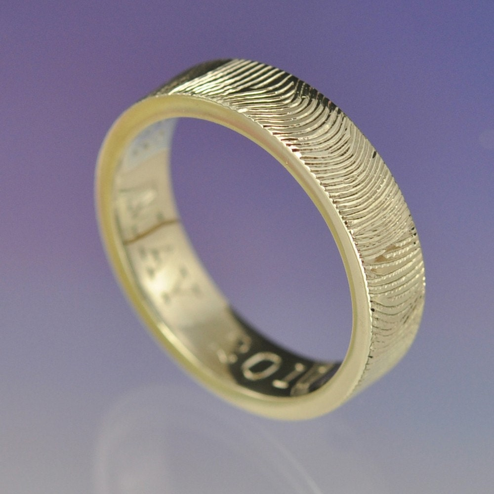 personalised fingerprint ring custom wedding ring your print