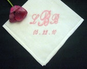 Classic Linen Mens Handkerchief  186S with Gift Box Personalized Wedding Handkerchief