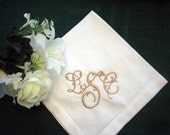 Personalized Napkins -20in Hemstitched Linen Dinner Napkins Set of 12 includes FREE shipping in the US