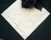 SPECIAL 27 in Personalized Linen Hemstitched Napkins SAME PRICE as 24 in Set of 12 while supply lasts.