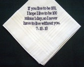 Personalized Wedding Gift - Wedding handkerchief from bride with Gift Box 20B