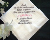 Bride to her Father 115S Personalized Wedding Handkerchief
