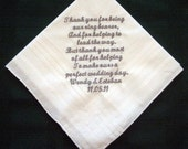 Personalized Gift - Ring Bearer Handkerchief 119S with gift box and shipping in the US