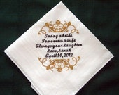 Father of the Bride wedding handkerchief -Hanky-Hankie Gift for Father of the Bride 126S with Gift Box includes shipping in the US