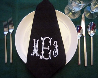 Dinner Napkin - Monogrammed Set of 12 Shipping included in the US