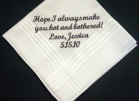 Traditional Wedding Gift For Bride From Groom : Bride to Groom Gift, Personalized Wedding Handkerchief, Wedding Hankie ...