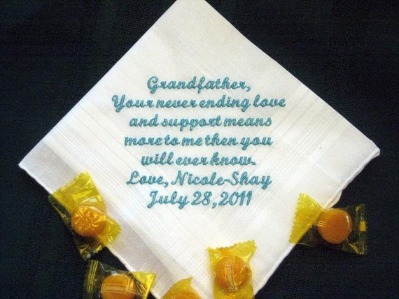 Grandfather 40S Personalized Wedding Handkerchief