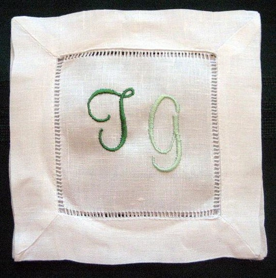 Personalized cocktail napkins - Monogrammed cocktail napkins