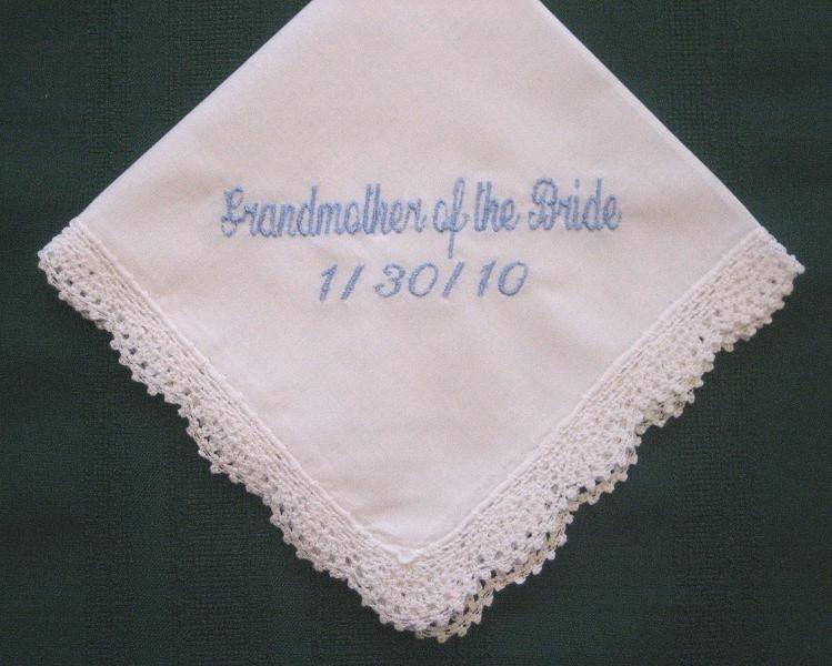 Grandmother Wedding Gift: Grandmother Wedding Handkerchief With Gift Box 82S