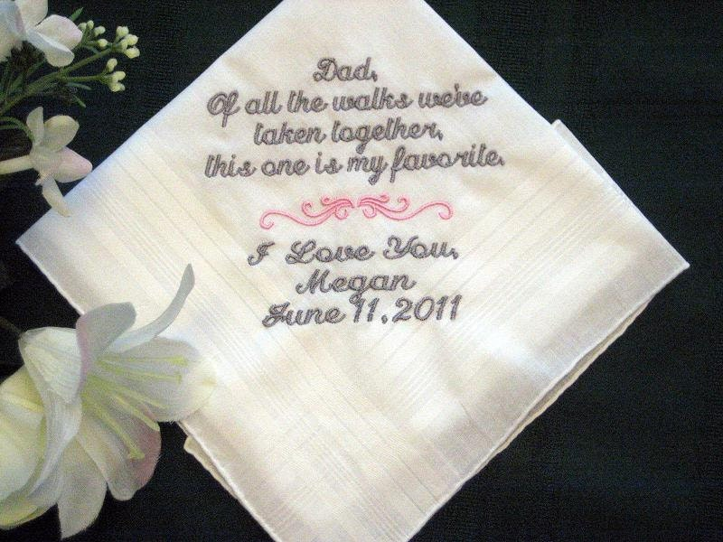 Wedding Gifts For Dad From Bride : From the Bride to her Father with Free gift by EmbroiderybyLinda