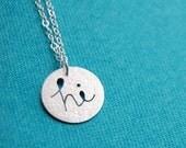 Hi - mini Greeting Necklace