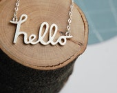 Custom Name Necklace. Personalised jewelry in Sterling Siver.